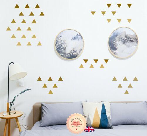 Geometric Pattern Room Decor 152 Triangle Wall Art Sticker Set Removable Vinyl