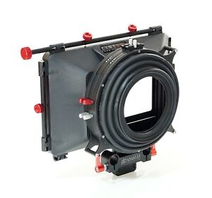 """shoot35 CINEbox 4x4"""" Matte Box with Bellows, Static 15mm Clamp and Flags"""