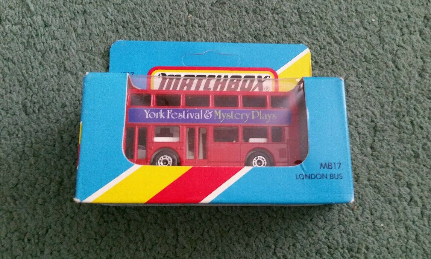 MATCHBOX LONDON BUS YORK FESTIVAL & MYSTERY PLAYS MB17 RED 1981 OPENED BOX MINT
