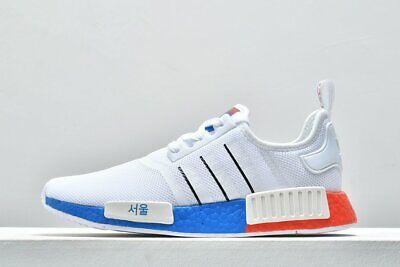 Ajustable huella Todos los años  Adidas Nmd R1 Hombre Blanco Negro Azul Rojo Deporte Zapato Talla UK 6-12    eBay