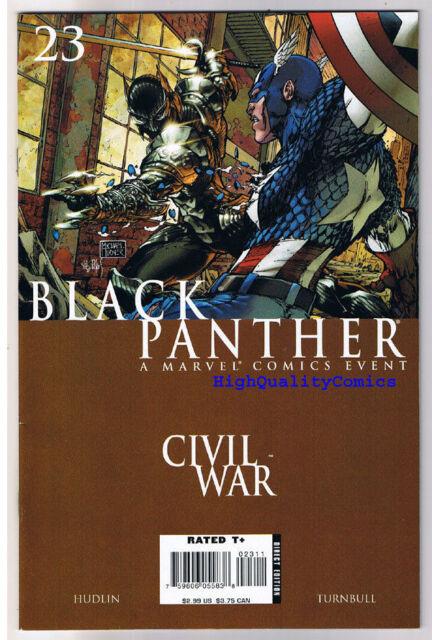 BLACK PANTHER #23, VF/NM, Civil War, Iron Man, Captain America, 2007, Marvel
