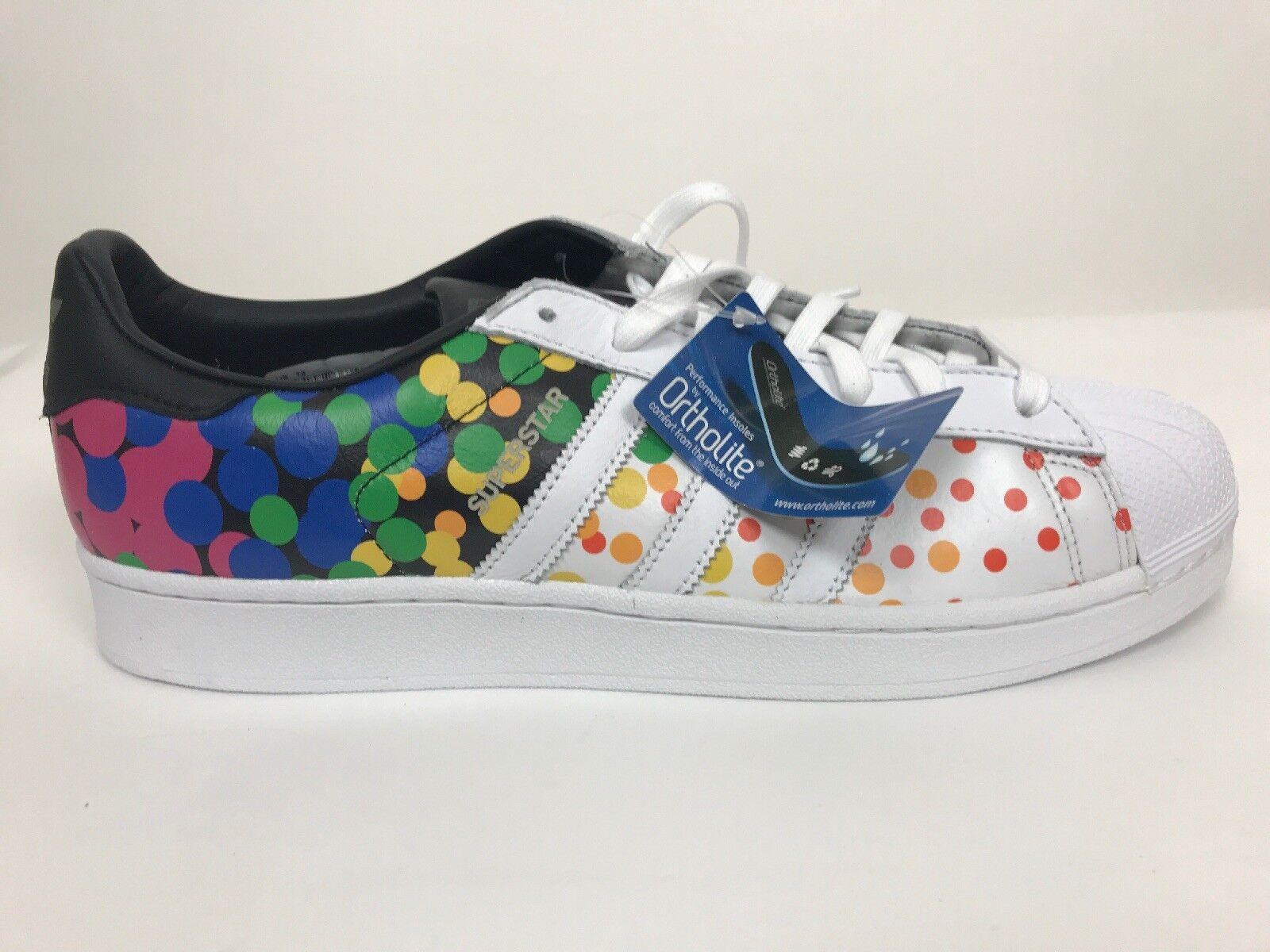 Pride Rainbow Polka Dots Adidas 12 White Mens shoes Superstar CM7802
