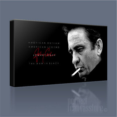 JOHNNY CASH MAN IN BLACK COUNTRY LEGEND ICONIC CANVAS PRINT PICTURE Art Williams