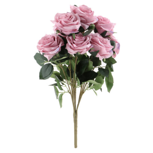 10 Head French Real Touch Silk Roses Flower Bouquet Wedding Floral Decor