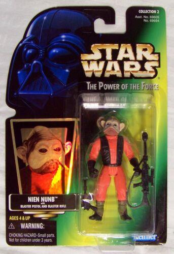 Star Wars New POTF Green Card Nien Nunb MOC