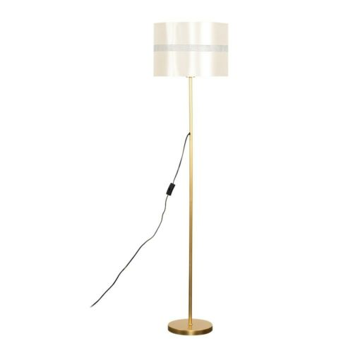 Home Furniture Diy Led Light Bulb Large Gold Standard Floor Lamp Lighting Easy Fit Diamante Shade Kisetsu System Co Jp