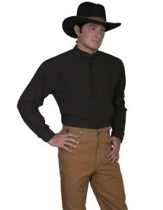 Scully Western Shirt Mens Old West Pull Over L//S Cotton F0/_RW013