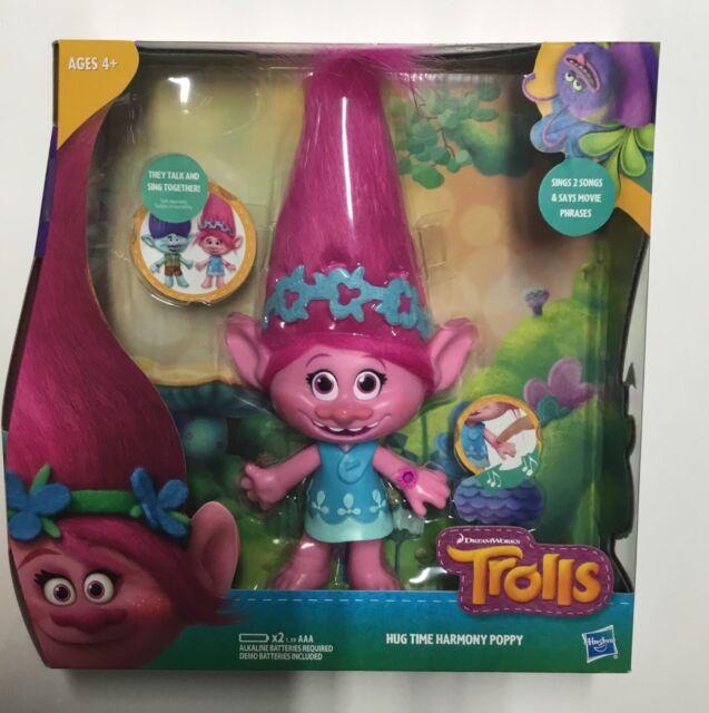 DreamWorks Trolls Hug Time Harmony Poppy Hasbro Sings Talks
