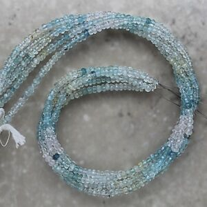 Aquamarine-Multi-Color-Faceted-Rondelle-3-5mm-Semi-Precious-Gemstones