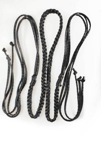 Neotrims PU Faux Leather 10mm Plaited Belt Strap,Tiebacks,Bag Handles,Mix Colors