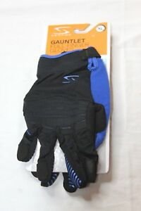 Serfas-Gauntlet-Full-Finger-Breathable-Cycling-Gloves-Black-amp-Blue-Size-XL-New