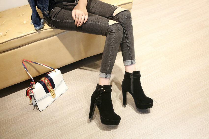 Stiefel stilett damenschuhe absatz 12 schwarz komfortabel komfortabel komfortabel simil leder 8539 c37ef1