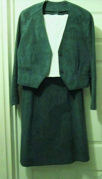 WOMEN'S ULTRA SUEDE HUNTER GREEN SUIT, 4 SIZE