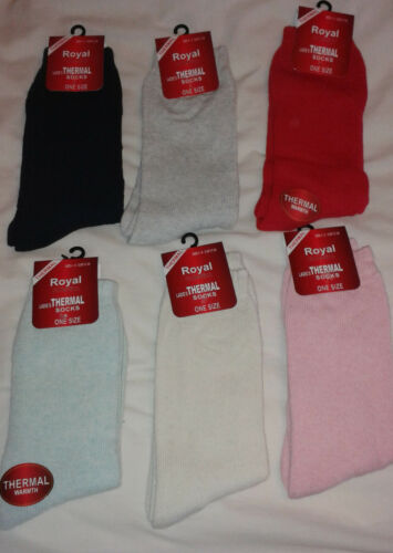 choice of colours NEW Royal Collection size 4-6 Ladies Thermal Socks