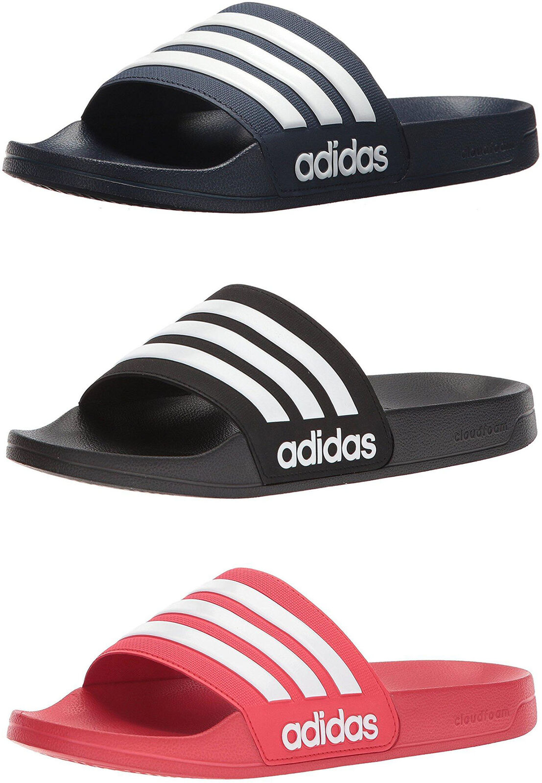 wholesale dealer f3b03 d2a33 adidas Neo Men s Cloudfoam Adilette Slide Sandals, 3 Colors