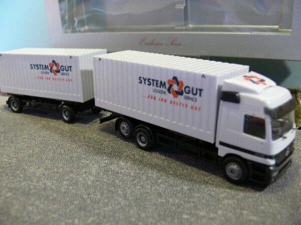 1 87 Herpa MB Actros systemgut cargobox Hängerzug 227650