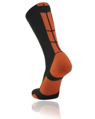 TCK Performance Lacrosse Baseline 3.0 Team Crew Socks BBPC Adult L Black//Orange
