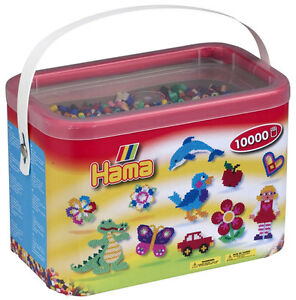 Hama-Beads-in-Bucket-Solid-Mix-Creative-Play-for-Children-NEW