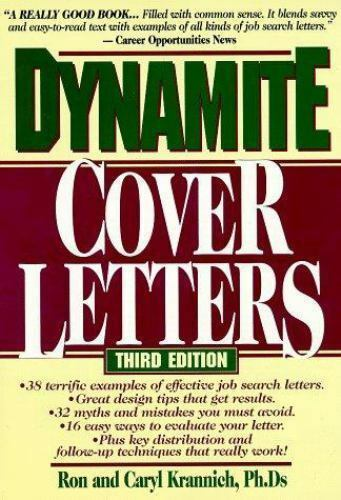 Dynamite Cover Letters: and Other Great Job Search Letters, Krannich, Ron, Good
