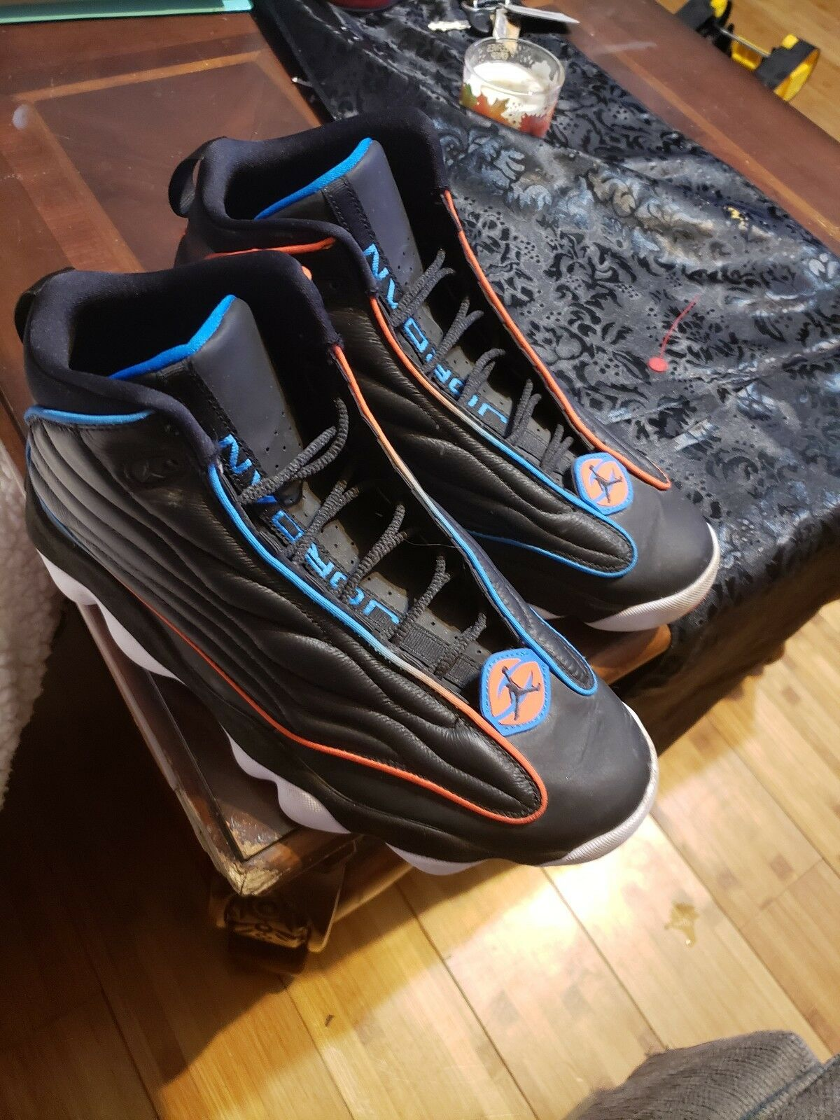 77db8e09a96b6 Nike Air Jordan Pro Strong BG Black Photo bluee 407484 008 LD orange Team  nxfvds4671-Athletic Shoes - sandals.ewdayplumbing.com