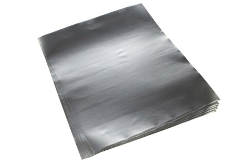 "Qty 5 Aluminum Foil Sheet w// Conductive Adhesive for Guitar 12/"" x 10/"""