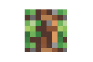 TNT Party Pixel Minecraft Lunch Napkins Pack of 16