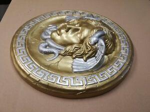 1 X Relief Rosette Meduse Versace griechische Wandrelief Bas-relief molding Lux