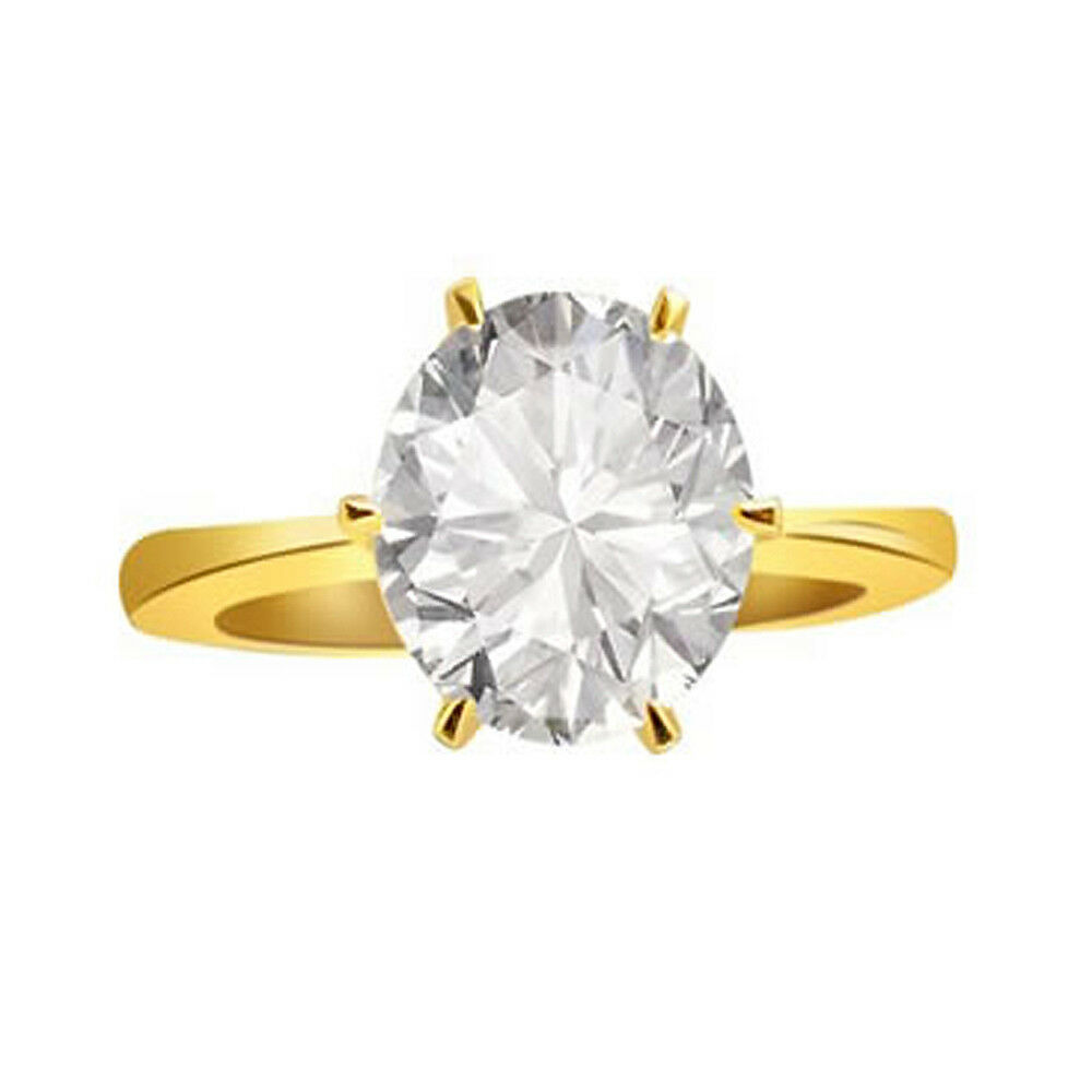 0.49cts Fancy Colour I1 SDJ Cert 18kt Round Solitaire Diamond Engagement Ring