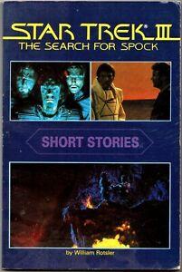 Star-Trek-III-Short-Stories-by-William-Rotsler-paperback-1984-Good