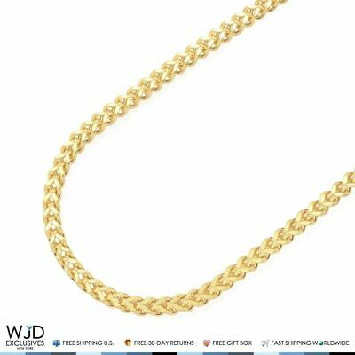 7b19e169152e0 3.5mm Wide Franco Link Chain Necklace Lobster Clasp 10K Solid Yellow Gold  24-34