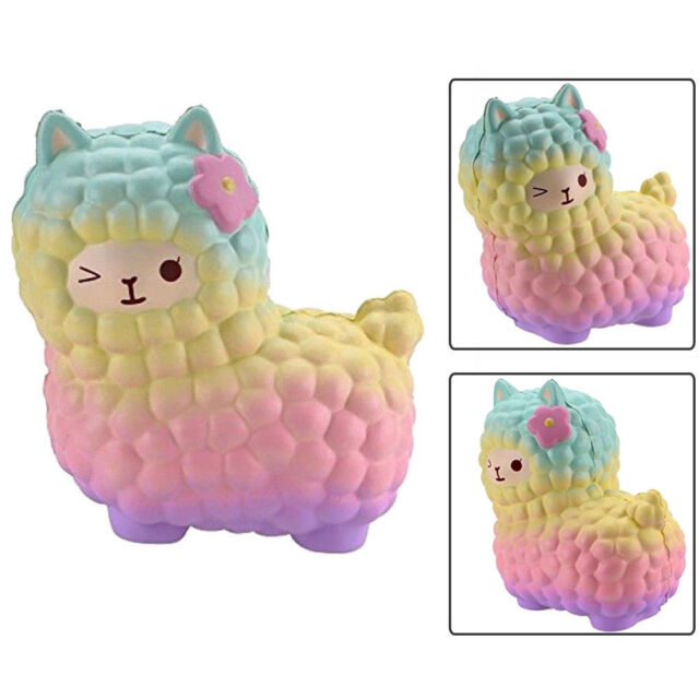 Jumbo 12cm Alpaca Galaxy Super Slow Rising Cream Scented Animal Toys