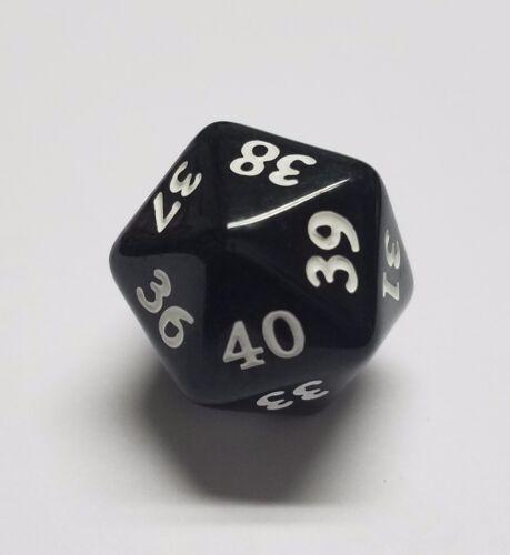 40-21 /& 20-1 Pour Magic Magic the Gathering Collectible Card Game Noir commandant//Elder Dragon Highlander vie sait Dice Set