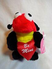 "Valentine Plush 5"" Ladybug BE MINE Red Black Toy o Rama Stuffed Animal"