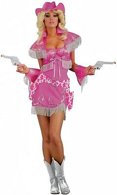 Cowgirl Diva Pink Rodeo Wild West Sheriff Fancy Dress Up Halloween Adult Costume