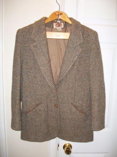 En Cuir Irlande Donegal Republic Manteau Femme Tweed 8 Vintage Sz Banana Blazer 4qwPWnxvA