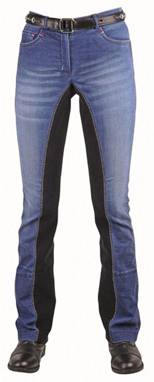 HKM Adult Junior Summer Elastic Denim Full Seat Breathable Jodhpur Breeches