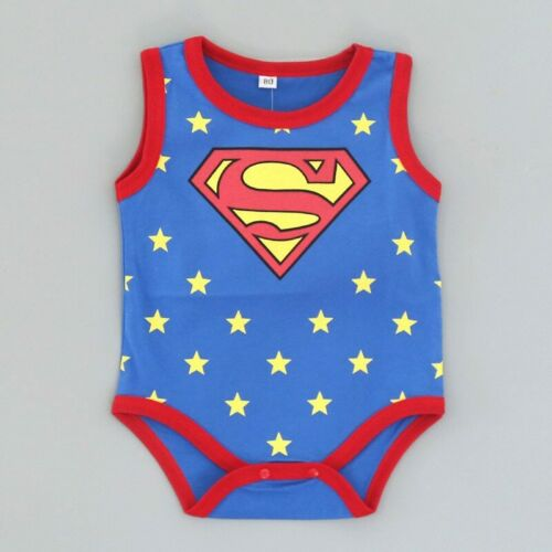 Ropa De Bebé De Super Héroes Mamelucos De Niño Niña 0-18 Meses Hecho De Algodón