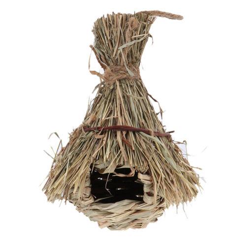 Naturrasen Vogelnest Haus Zufuhr Vogelhaus Hut rustikales Seil hängendes
