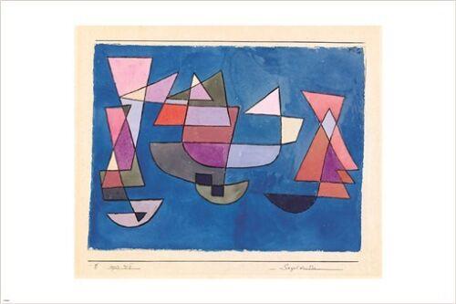 bateaux a voile PAUL KLEE vintage print poster MODERN CUBIST colorful 24X36