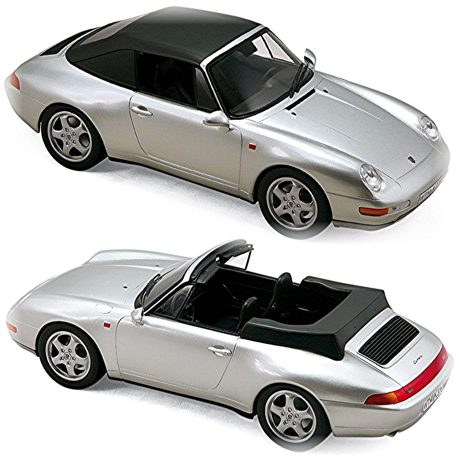 1 18 Novità Norev - Porsche 911 993  voiturerera Cabriolet Cabrio 1994 argent  des prix moins chers