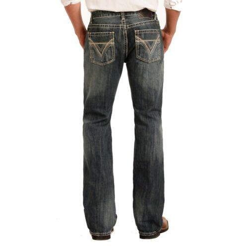 Rock /& Roll Denim Homme Pistol Boot Cut Medium Wash Jeans M0P2602