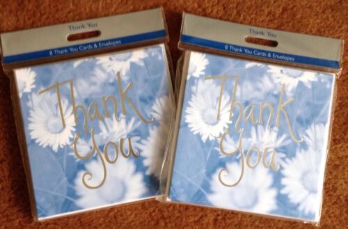 2 Packs of Thank You Cards 8per pack