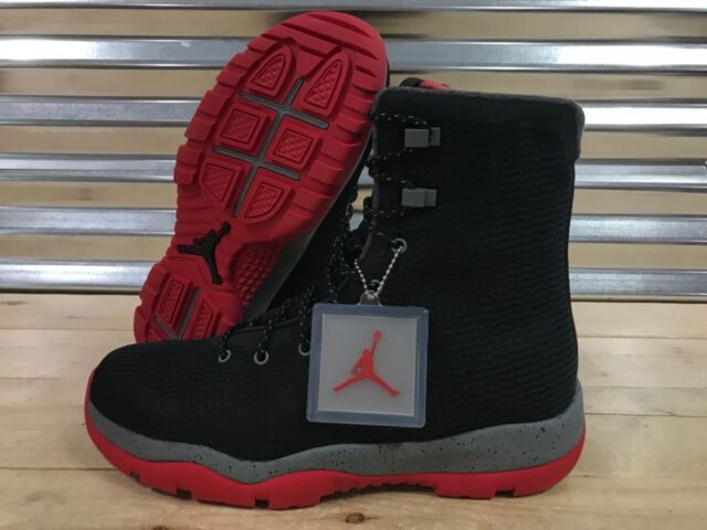 1c196df7ce66 Nike Air Jordan Future Boots Shoes Black Gym Red Cool Grey Bred SZ (854554-