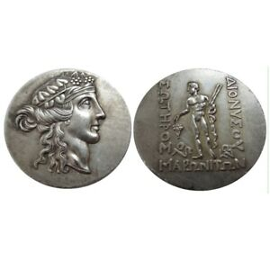 Ancient-Greek-Coin-Rare-Silver-Copper-Thaso-Tetradrachm-Coin-THRACE-Coins-150-BC