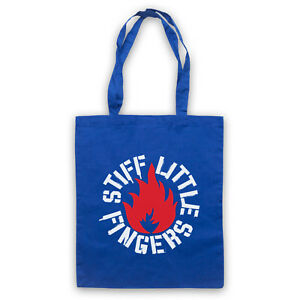 Clever Inflammable Unofficial Stiff Little Fingers Flame Logo Tote Bag Life Shopper