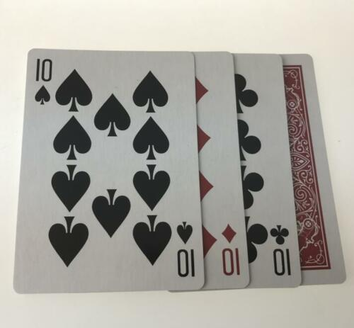 Four Cards Illusion,Cards Change Magic Tricks Close Up Accessories Gimmick
