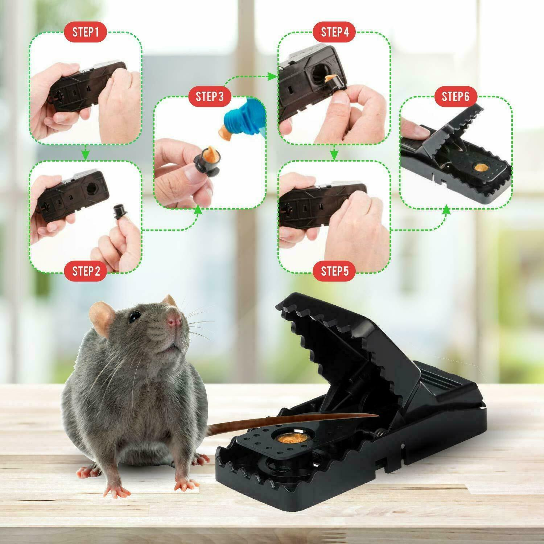 6-PACK Reusable MOUSE TRAPS Rat Trap Rodent Snap Trap Mice Trap Killer Catcher