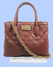 MICHAEL KORS HANNAH Dusty Rose Quilted Leather Satchel Shoulder Bag Msrp $328