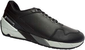 Pirelli Derry - 14 Leder Sneaker Gr. 39-45 Freizeitschuhe Schuhe Black NEU
