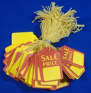 100-Qty-Sale-Price-Strung-Merchandise-Tags-5-Retail-Store-Supplies
